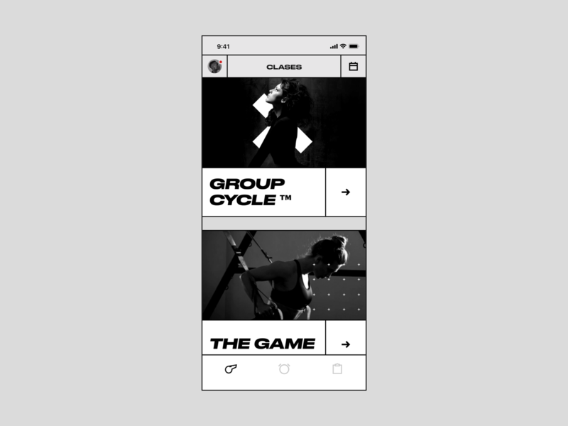 Treino lines wide brutal brutalism fitness design ui ux interface app clean minimal ios simple bold white black hellohello products categories