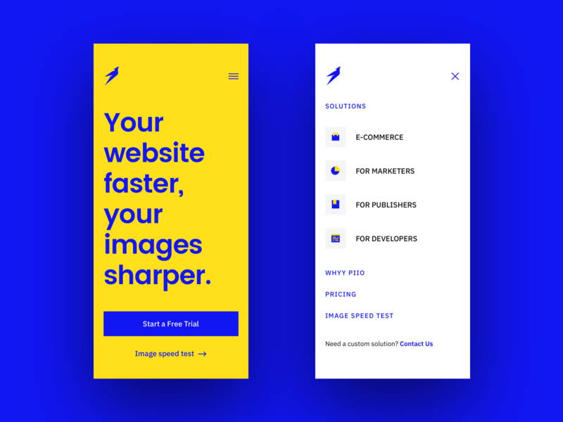 Piio piio bird typography grotesque grotesk powerful strong yellow blue bold website web hellohello minimal clean interface ux ui design
