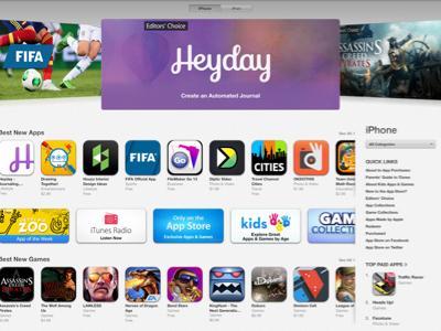 Editors' Choice! heyday journal automatic lifelog timeline ios ios7 app product