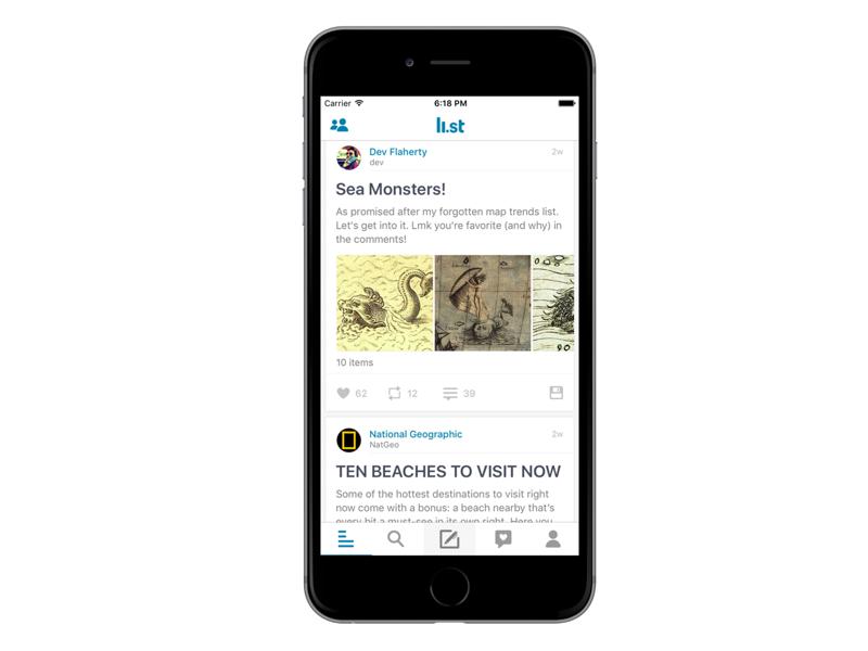 li.st design design branding ios app design social li.st