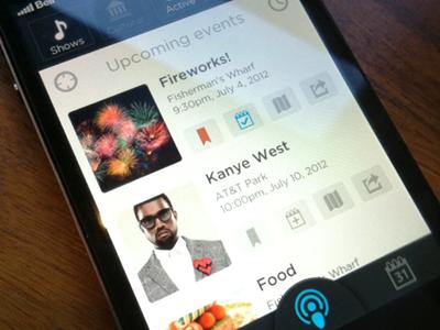 Events iphone ios app simple