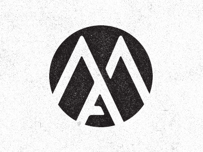 Look Ma ma blkboxlabs logo branding black white texture monogram circle
