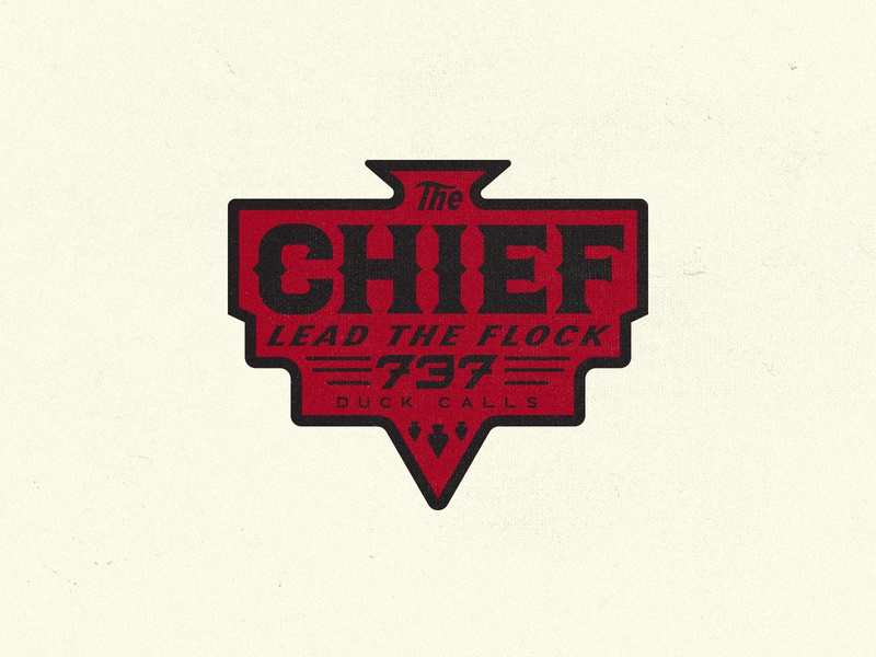 CHIEF BADGE apparel snapback hat hunting type branding badge typography logo
