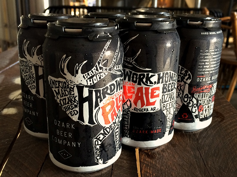 OBC Cans beer brew cans packaging typography ozark beer hand lettered