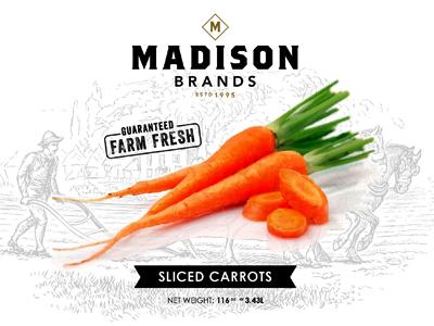 Eat Yo' Veggies madison vegetables packaging labels clean blkboxlabs