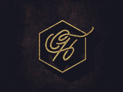 CH Originals logo branding monogram ch vintage texture script typography hand lettered