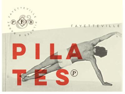 Pilates logo branding typography pilates barre vintage arkansas