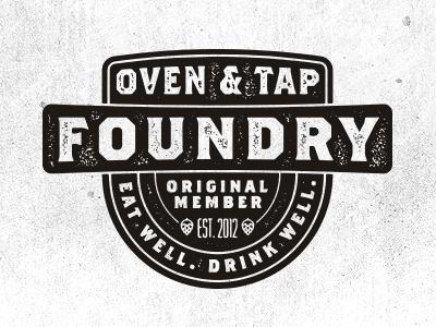 Foundry ot oventap arkansas restaurant food beer branding logo
