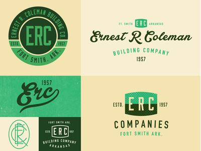 Options  logo branding arkansas vintage retro type typography
