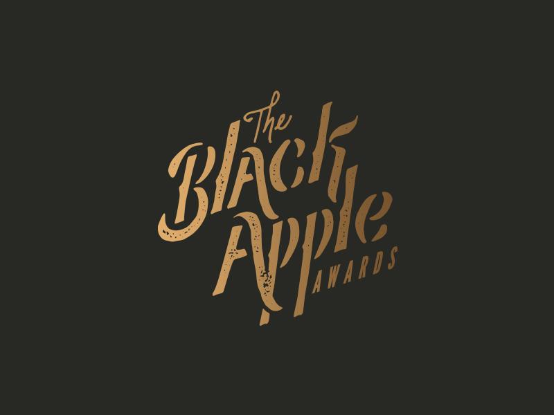 Black Apple logo branding arkansas vintage retro type typography hand lettered