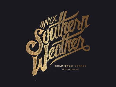 Southern Weather cold brew blkboxlabs onyx coffee typography type retro vintage arkansas branding logo