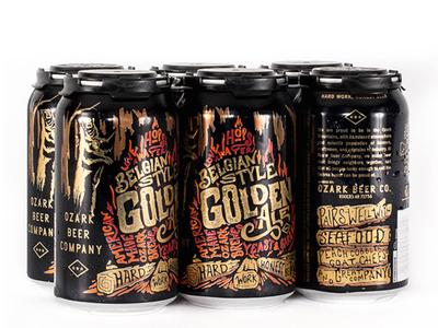 Belgian Golden can design camp fire craft beer ozark beer packaging beer brew bear arkansas obc