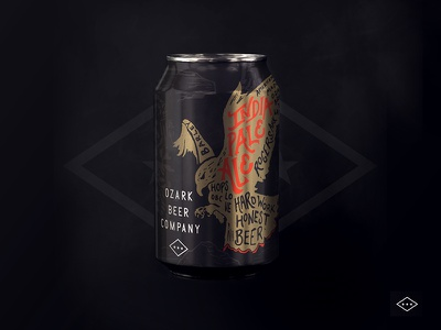 OZARK IPA hand lettered nature arkansas brewery brew identity logo branding beer