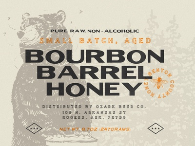 Ozark Bourbon Barrel Aged Honey