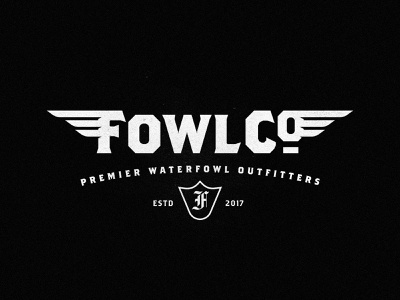 FowlCo Waterfowl Outfitters outdoor logo hunting waterfowl typography black branding logo