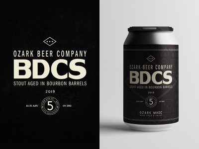 OZARK BDCS badge arkansas vintage texture typography package design craft beer beer