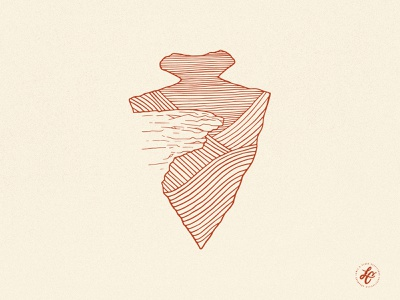 Hawksbill Crag hickory design co tshirt design design illustration retro arkansas vintage texture