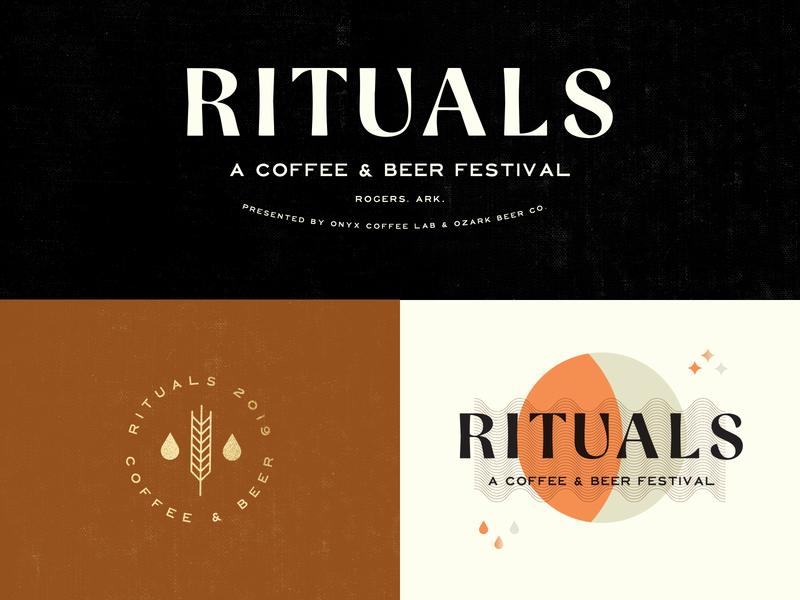 RITUALS FESTIVAL design type badge arkansas branding typography logo festival beer coffee