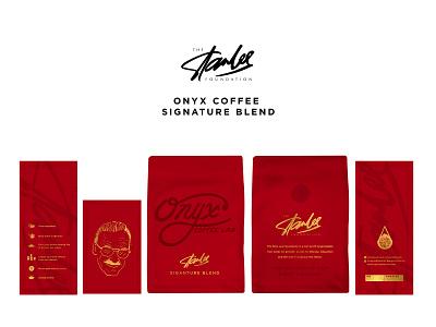 Stan Lee Signature Blend package design coffee stan lee marvel arkansas typography branding hand lettered brand