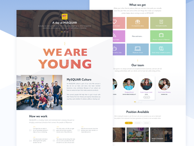 Landing page - company website visual company technical young homepage uiux page landing web