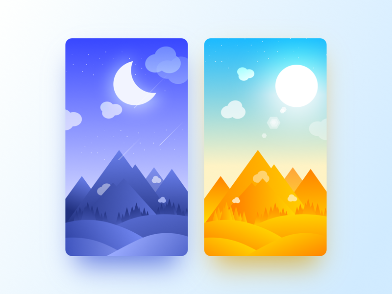 Wallpaper ux ui mountain cloud weather wallpaper mobile interface dailyui app