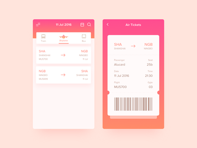 E-Ticket ux ui ticket pass e-ticket dailyui train bus boarding airplane airlines air