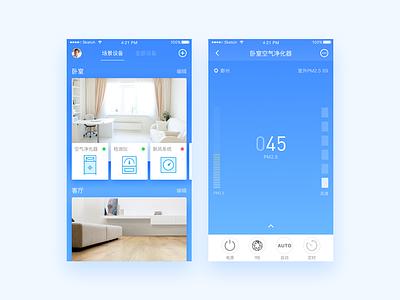 Air Purifier ux ui smarthome mobile interface dailyui app