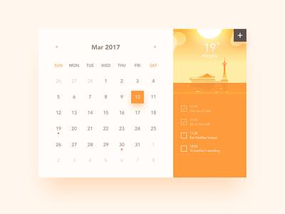 Calendar Widget ux ui widget daily calendar app