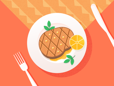 Meat steak food illustration meat