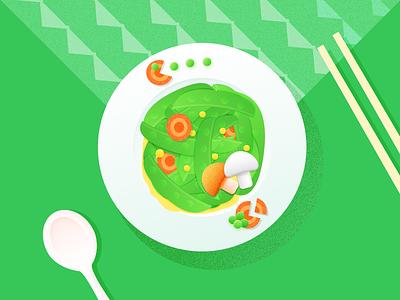Snow Peas pac-man vegetables peas snow illustration food