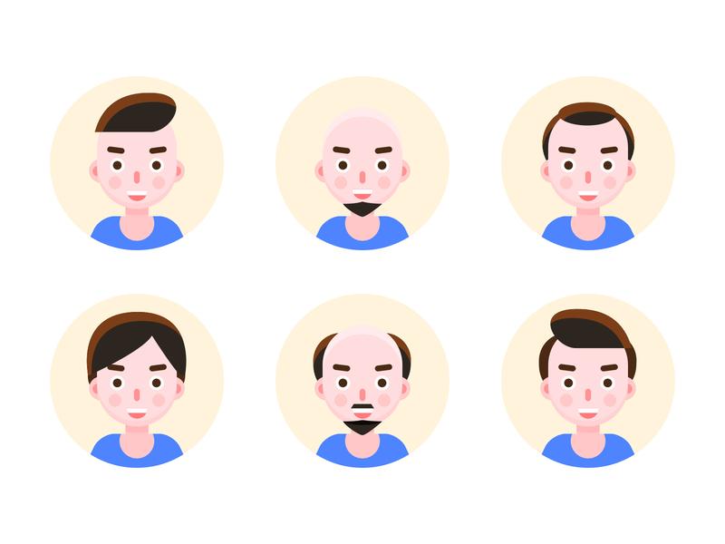 Avatar people head face men avatar