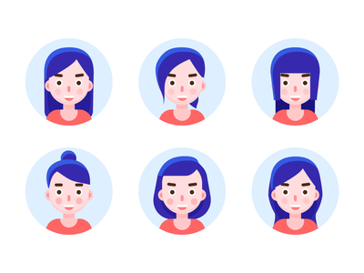 Avatar_2 women people head face avatars avatar