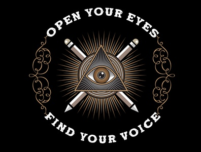 Open Your Eyes design vector digital painting illustration