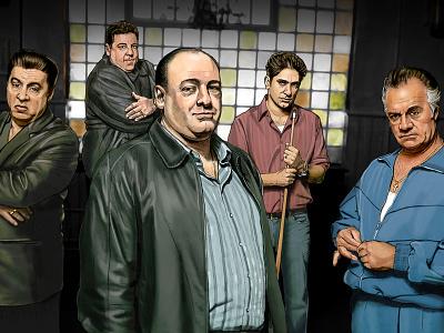 The Sopranos digital painting hbo illustration sopranos