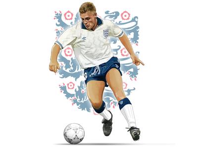Gazza digital painting artwork photoshop world cup football illustration