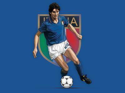Rossi digital painting artwork photoshop world cup football illustration