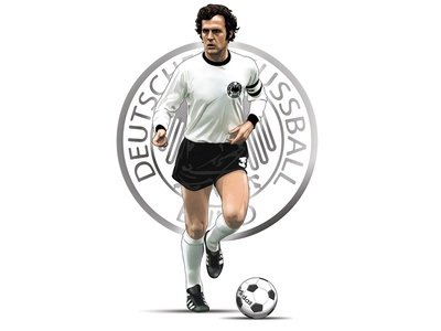 Der Kaiser digital painting artwork photoshop world cup football illustration