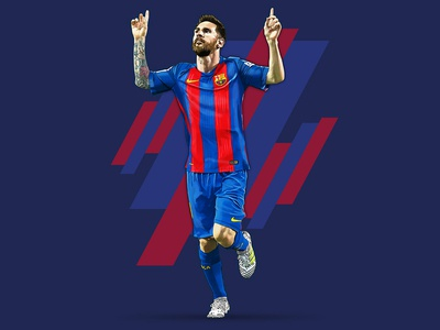 Messi photoshop argentina sport soccer artwork digital painting vector painting illustration
