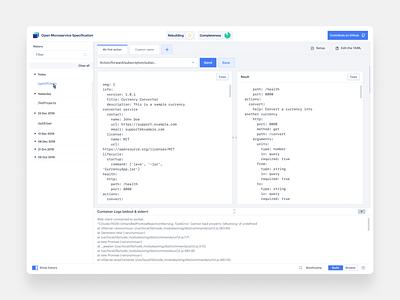 Oms ( Dev. tool ) dashboard technical dashboard web style app branding ux ui dev tool developer tools developer design minimal