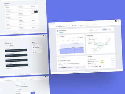 Dashboard Design for a dev. tool dash dashboard app dashboard metric diagram data backend graphic developer tools developer app web branding ux ui style design minimal
