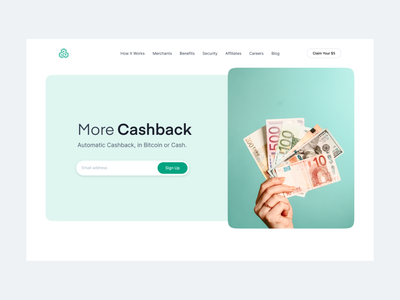 Pei Cashback platform landing financial app finance business bitcoin money freelance website web branding cash finance ux ui style design minimal