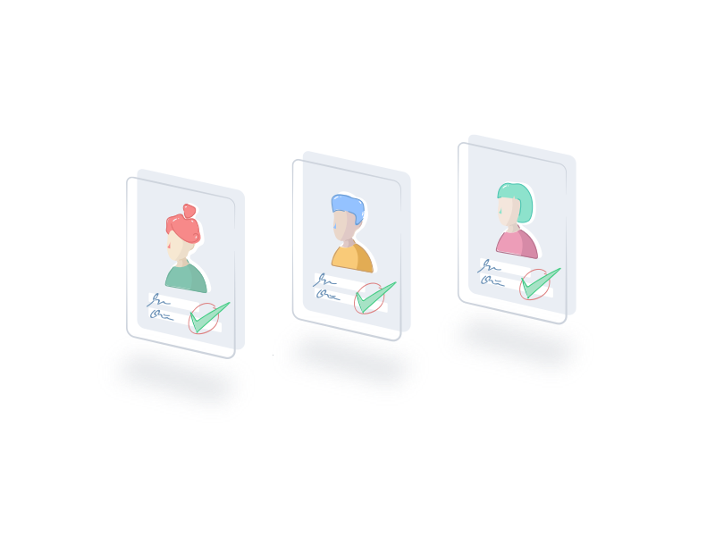 Profile Card Illustration design dribbble drawing color style illustration logo icon