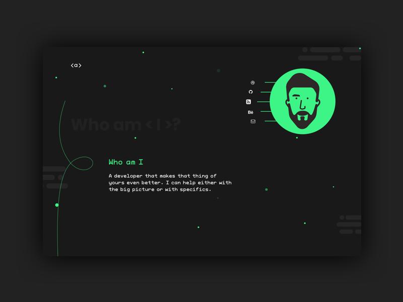 A Developer's Portfolio personal dailyui developer illustration style color web dribbble design