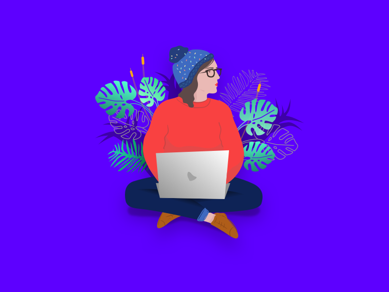 selfie by pen draw macbook design portfolio vector designer plant minimal illustrator sketch drawing illustration