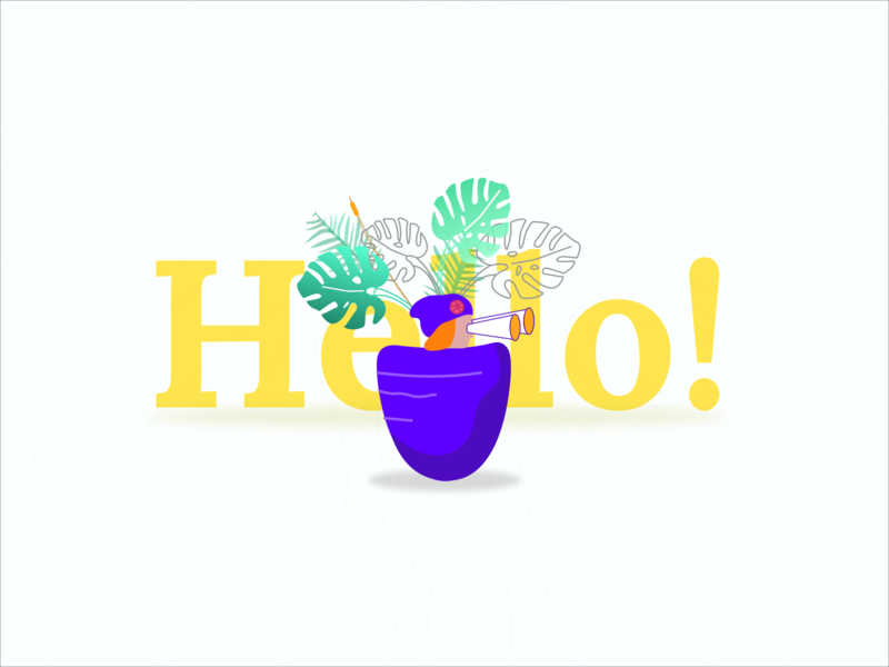 Hello! have you seen my page? portfolio drawing freelance web website art style branding design minimal illustration icon ux ui logo