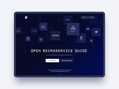 Microservice.guide Landing cards style web ux design ui deisgn website typography branding design ux ui logo minimal