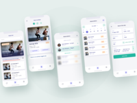 Wodz fitness app - white theme