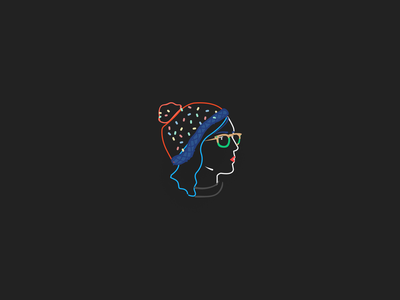 head from profile! draw style vector color drawing design illustration minimal