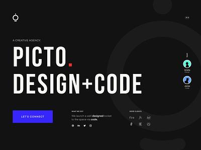 Upcoming style of Picto.co brand freelance artwork art creative code picto agency branding agency website agency web branding vector website ux ui style design minimal