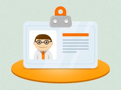 Identification id identification profile corporate man businessman illustration